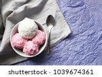 homemade strawberry and vanilla ... | Shutterstock . vector #1039674361