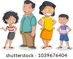 colorful happy people. cartoon... | Shutterstock .eps vector #1039676404