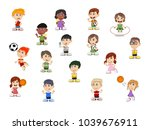 set of children cartoon | Shutterstock . vector #1039676911
