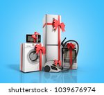 home appliances as a gift group ... | Shutterstock . vector #1039676974