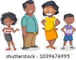 colorful happy people. cartoon... | Shutterstock .eps vector #1039676995