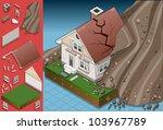 isometric exterior house crack... | Shutterstock .eps vector #103967789