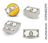 vector money icons. symbol of... | Shutterstock .eps vector #1039683295