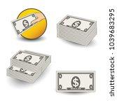 vector money icons. symbol of... | Shutterstock .eps vector #1039683295