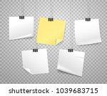 paper stickers on hooks vector... | Shutterstock .eps vector #1039683715