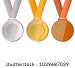 collection of medals for the... | Shutterstock . vector #1039687039