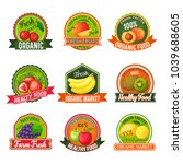 set of labels  tags  icons and... | Shutterstock .eps vector #1039688605