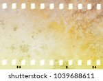 grunge dripping cracked film... | Shutterstock . vector #1039688611