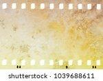 grunge dripping cracked film... | Shutterstock . vector #1039688611