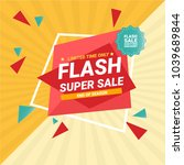 flash sale banner template... | Shutterstock .eps vector #1039689844