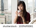 coffee time in the morning.... | Shutterstock . vector #1039690081