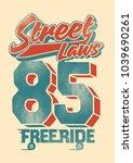 sakateboard. vintage skateboard ...   Shutterstock .eps vector #1039690261