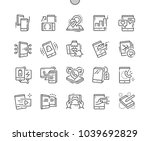tablet well crafted pixel... | Shutterstock .eps vector #1039692829
