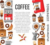 flat icons for coffee shop.... | Shutterstock .eps vector #1039698601