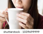 coffee time in the morning.... | Shutterstock . vector #1039699999