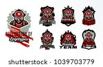 a set of colorful emblems ...   Shutterstock .eps vector #1039703779