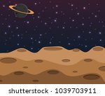universe moon surface with... | Shutterstock .eps vector #1039703911