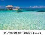 maldives island and paradise... | Shutterstock . vector #1039711111