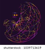 moving colorful lines of... | Shutterstock .eps vector #1039713619