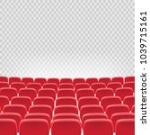 vector theatre red seat chair... | Shutterstock .eps vector #1039715161