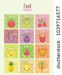 cute fruits kawaii cartoons | Shutterstock .eps vector #1039716577