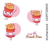 cute french fries cartoons | Shutterstock .eps vector #1039720045