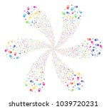 attractive cell phone cyclonic... | Shutterstock .eps vector #1039720231
