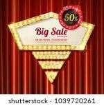 retro light frame. big sale.... | Shutterstock .eps vector #1039720261
