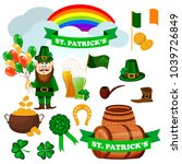 st. patrick s day icons. vector ...   Shutterstock .eps vector #1039726849