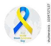 symbol of world down syndrome... | Shutterstock .eps vector #1039727137