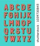 bold modern uppercase alphabet... | Shutterstock .eps vector #1039730845