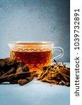 ayurvedic herb liquorice root... | Shutterstock . vector #1039732891