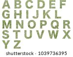 abc  alphabet letters isolated... | Shutterstock . vector #1039736395