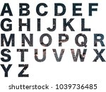 abc  alphabet letters isolated... | Shutterstock . vector #1039736485