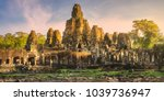 sunrise view of ancient temple... | Shutterstock . vector #1039736947