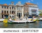 aveiro  portugal   aug 21 ... | Shutterstock . vector #1039737829