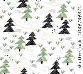 childish seamless pattern with... | Shutterstock .eps vector #1039739371