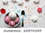 homemade strawberry and vanilla ... | Shutterstock . vector #1039741549
