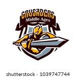 a colorful logo  a sticker  an... | Shutterstock .eps vector #1039747744