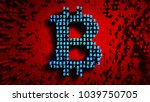 abstract numbers random motion... | Shutterstock . vector #1039750705