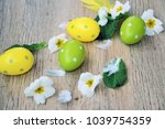 colorful handmade  eggs and...   Shutterstock . vector #1039754359