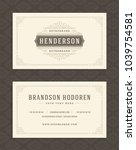 luxury business card and... | Shutterstock .eps vector #1039754581