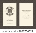 luxury business card and... | Shutterstock .eps vector #1039754599