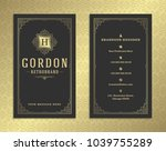luxury business card and... | Shutterstock .eps vector #1039755289