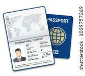 international male passport...   Shutterstock .eps vector #1039757269
