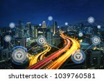 cityscape and network... | Shutterstock . vector #1039760581