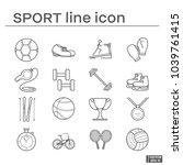 set of sport icon | Shutterstock .eps vector #1039761415
