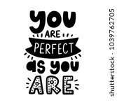 vector poster with phrase and... | Shutterstock .eps vector #1039762705