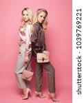 two beautiful young women in... | Shutterstock . vector #1039769221