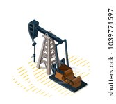 drilling rigs isolated on white ...   Shutterstock .eps vector #1039771597